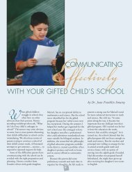 Communicating Effectively With Your Gifted Child's School - NAGC