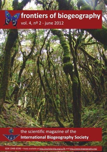 2 - The International Biogeography Society