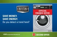 Save money. Save energy. Do you detect a trend here? - Maytag ...