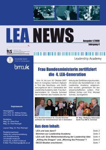 LEA NEWS Ausgabe 1/2008 - Leadership Academy