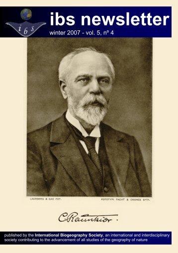 Volume 5, Number 4 - The International Biogeography Society