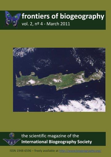 entire PDF (1.4 MB) - The International Biogeography Society