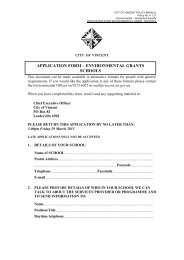 APPLICATION FORM – ENVIRONMENTAL GRANTS SCHOOLS