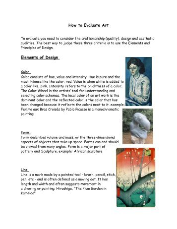 How to Evaluate Art Elements of Design
