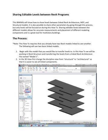 Sharing Editable Levels between Revit Programs The ... - BIM Wiki