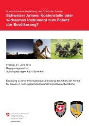 Schweizer Armee: Kostenstelle oder wirksames In strument ... - BPW