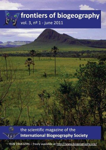 cover - The International Biogeography Society
