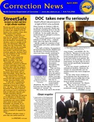 April - North Carolina Department of Corrections