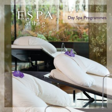 Day Spa Programmes - The G Hotel