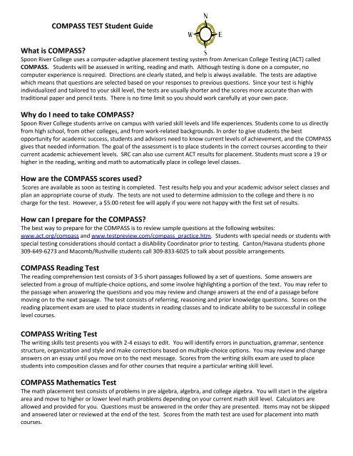 compass test online