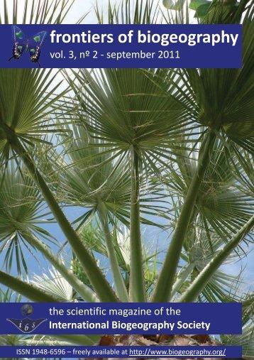 entire PDF (1.2 MB) - The International Biogeography Society