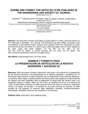 revista ing julio diciembre 2012 vol 7 n°2 - Portal de Revistas ...