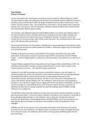 read Directors Foreword - ACT Museums and Galleries
