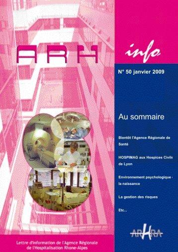 ARH Info n°50 janvier 2009 - Parhtage santé