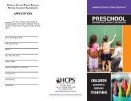 PRESCHOOL - Henrico County Public Schools