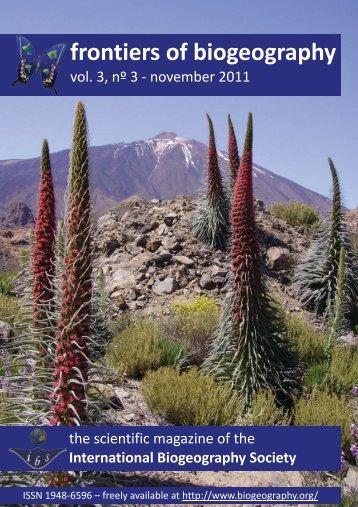 frontiers of biogeography - The International Biogeography Society