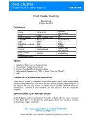 Food Cluster 08-09-10 minutes.pdf - Food Security Clusters