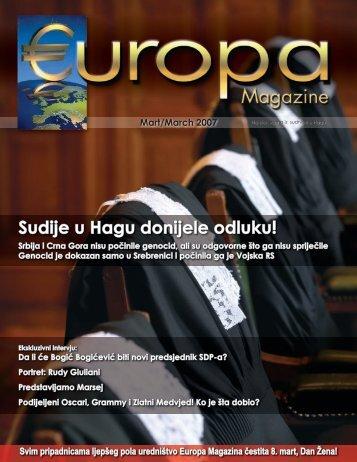 Sudije u Hagu donijele odluku! - Europa Magazine