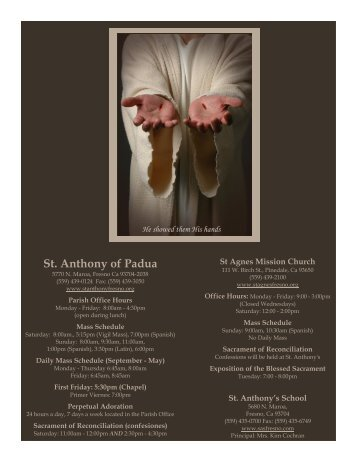 4/22/12 - St. Anthony of Padua Catholic Church