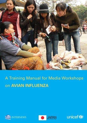 Training Manual For Media Workshops on Avian Influenza