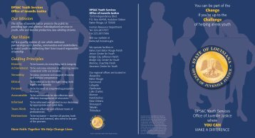Recruitment Brochure - Office of Juvenile Justice - Louisiana