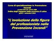Evoluzione professionisti nella Prevenzione Incendi - Ordine degli ...