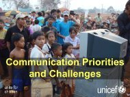 Communication Priorities and Challenges: Capacity Building
