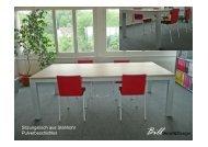Sitzungstisch aus Stahlrohr Pulverbeschichtet BillMetall&Design