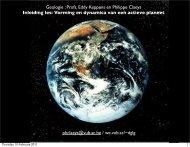 Vorming en dynamica van een actieve planeet