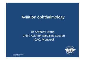 Aviation ophthalmology