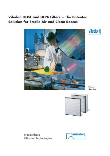 Viledon HEPA and ULPA Filters - Freudenberg Filtration Technologies