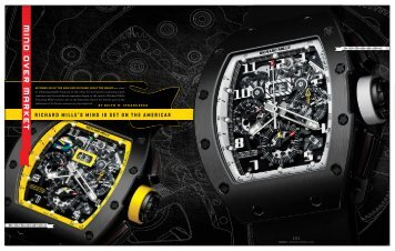 Watch Journal Richard Mille - Keith Strandberg