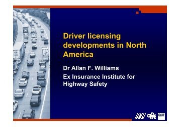 Driver licensing developments in North America