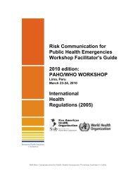 Risk Communication for Public Health Emergencies Workshop ...