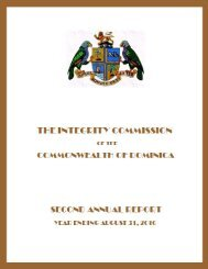 The Integrity Commission Second Annual Report - Dominica ...