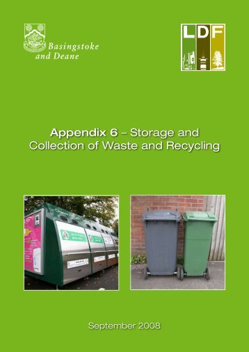 Appendix 6 – Storage and Collection of Waste and Recycling