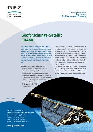 Geoforschungs-Satellit CHAMP - GeoForschungsZentrum Potsdam