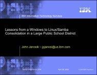 large NT to Samba file server consolidation and domain ... - sambaXP