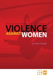 Programming to Address Violence Against Women - UNFPA Europe