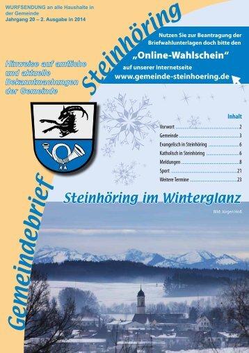Februar 2014 - Gemeinde Steinhöring