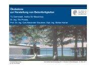Ökobetone zur Herstellung von Betonfertigteilen - Institut für ...