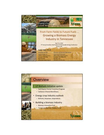 Overview - Mississippi Biomass and Renewable Energy Council
