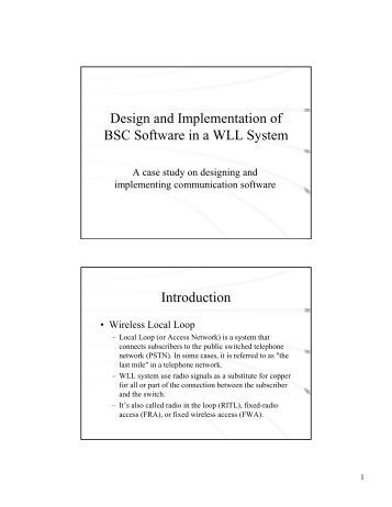 Introduction of a thesis work