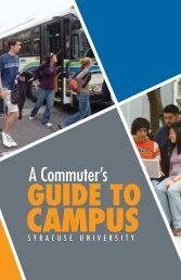guide to - Office of Off-Campus and Commuter Services - Syracuse ...
