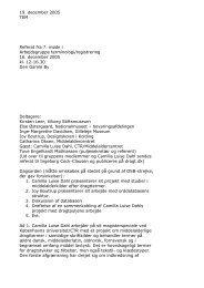 Arbejdsgruppe vedr. registrering og terminologi 16. december 2005