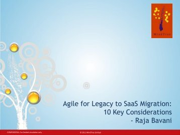 Agile for Legacy to Saas Migration: 10 Key Considerations - Raja ...