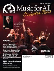 Orchestra Newsletter - April 2008 - Music for All