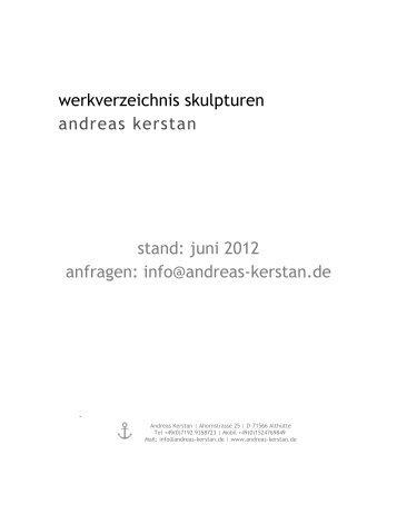 Werkverzeichnis - Andreas Kerstan