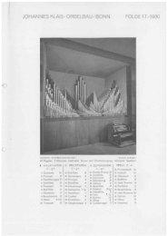 Folge 17 / 1930: Düren Blindenanstalt - Orgelbau Klais Bonn