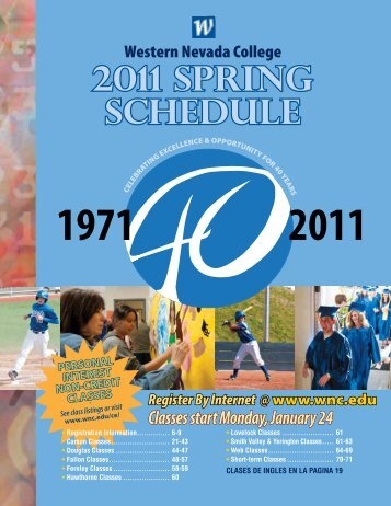 2011 SPRING SCHEDULE - Western Nevada College